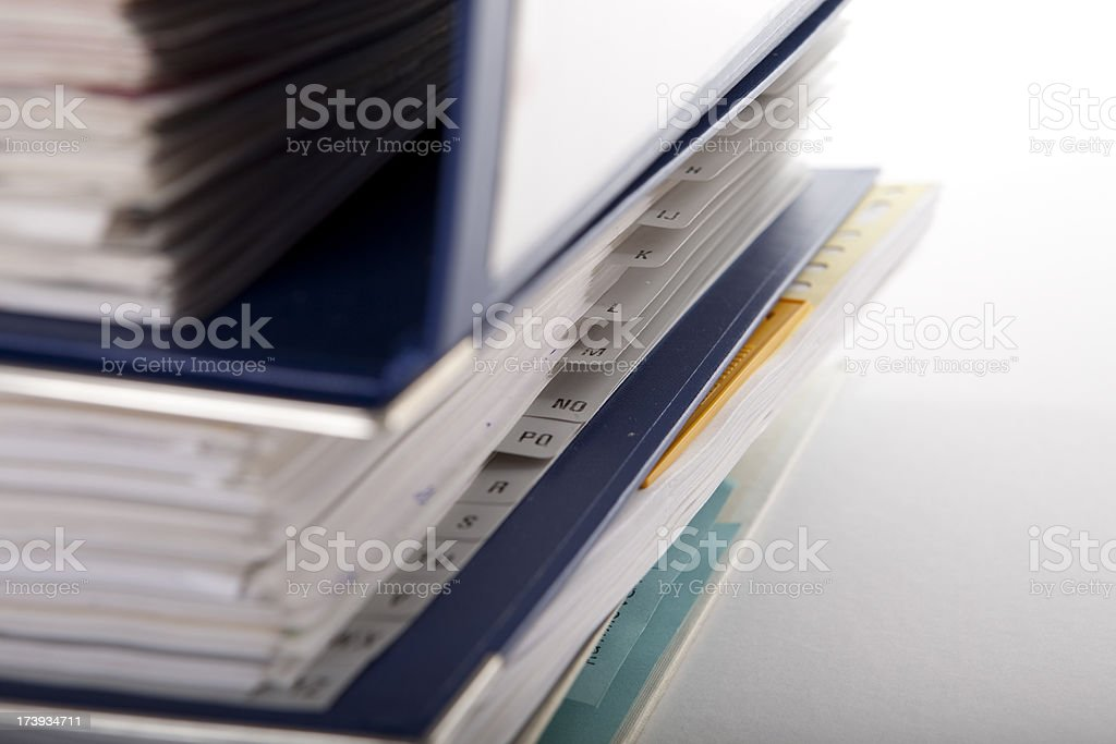 So much paperwork royalty-free stock photo