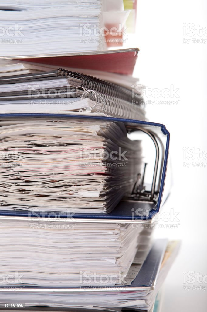 So much paperwork stock photo