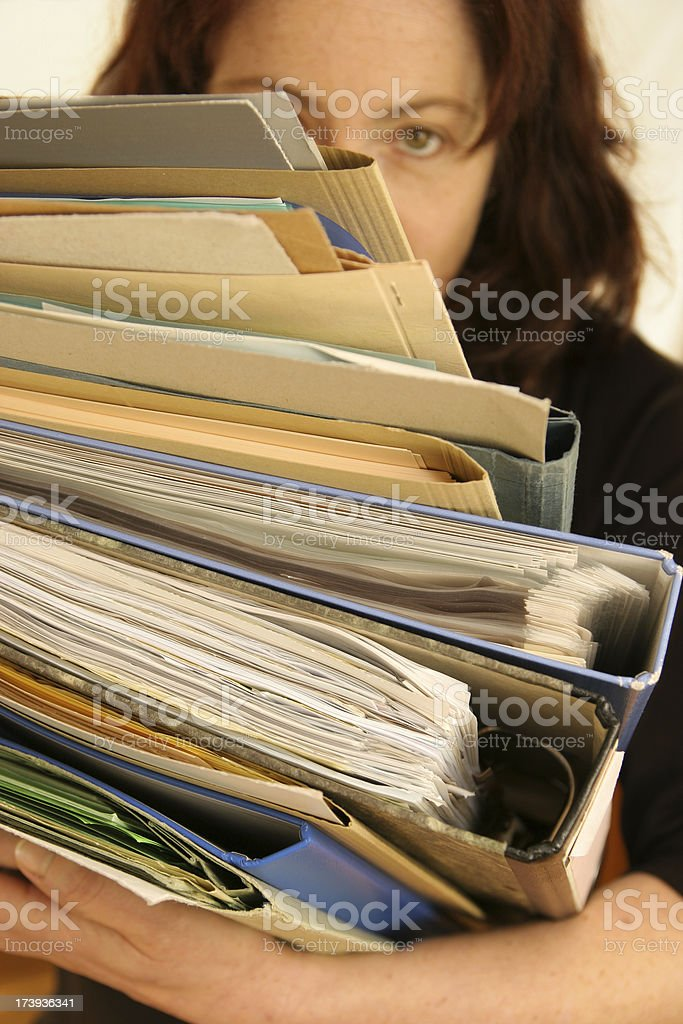 so much work royalty-free stock photo