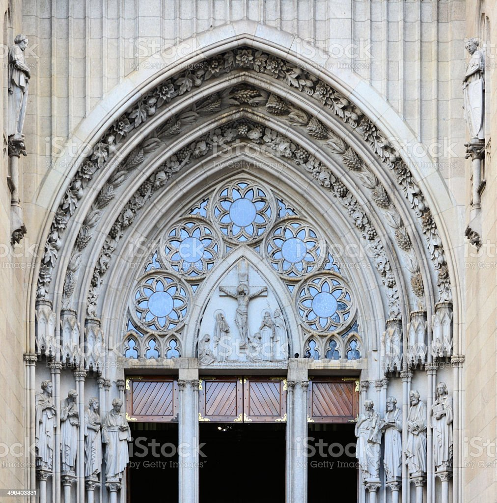 São Paulo, Brazil: Catholic cathedral - Sé stock photo