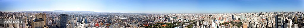 S?o Paulo city, Brazil- skyline - Panoramic S?o Paulo 360 stock photo