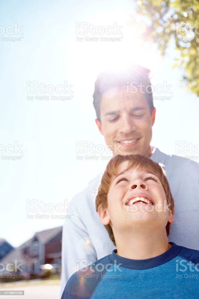 So proud of my son royalty-free stock photo