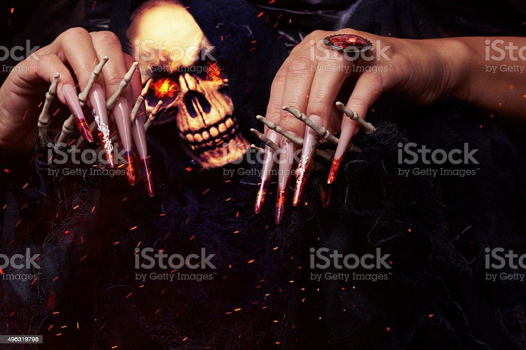 so scary and horror skeleton stock photo