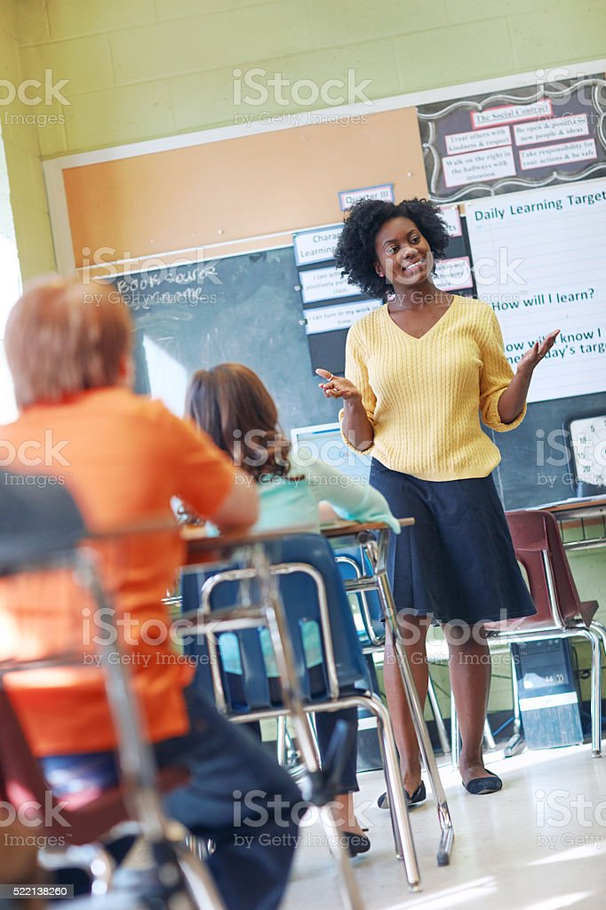 So tell me what you learned today? stock photo