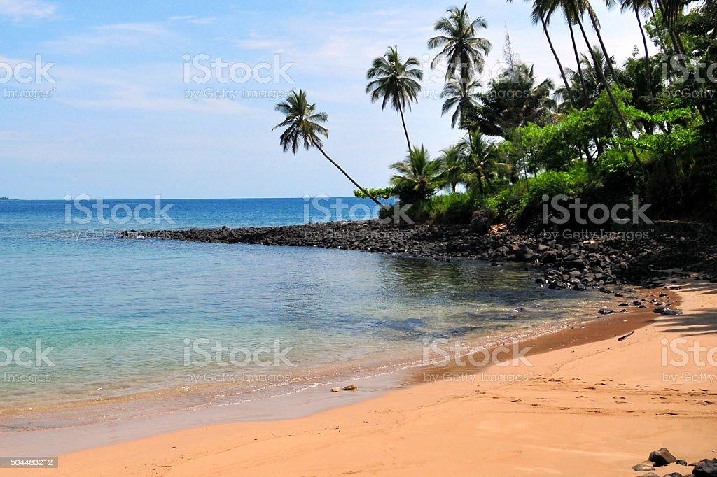 São Tomé and Principe: tropical beach stock photo