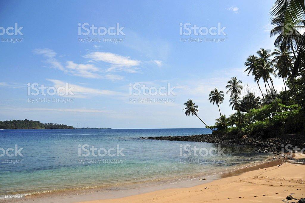 S?o Tom? and Pr?ncipe: Santana cove beach stock photo