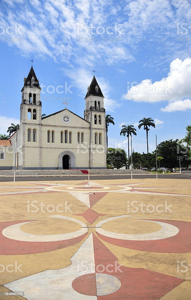S?o Tom?: cathedral of S?o-Tom? stock photo