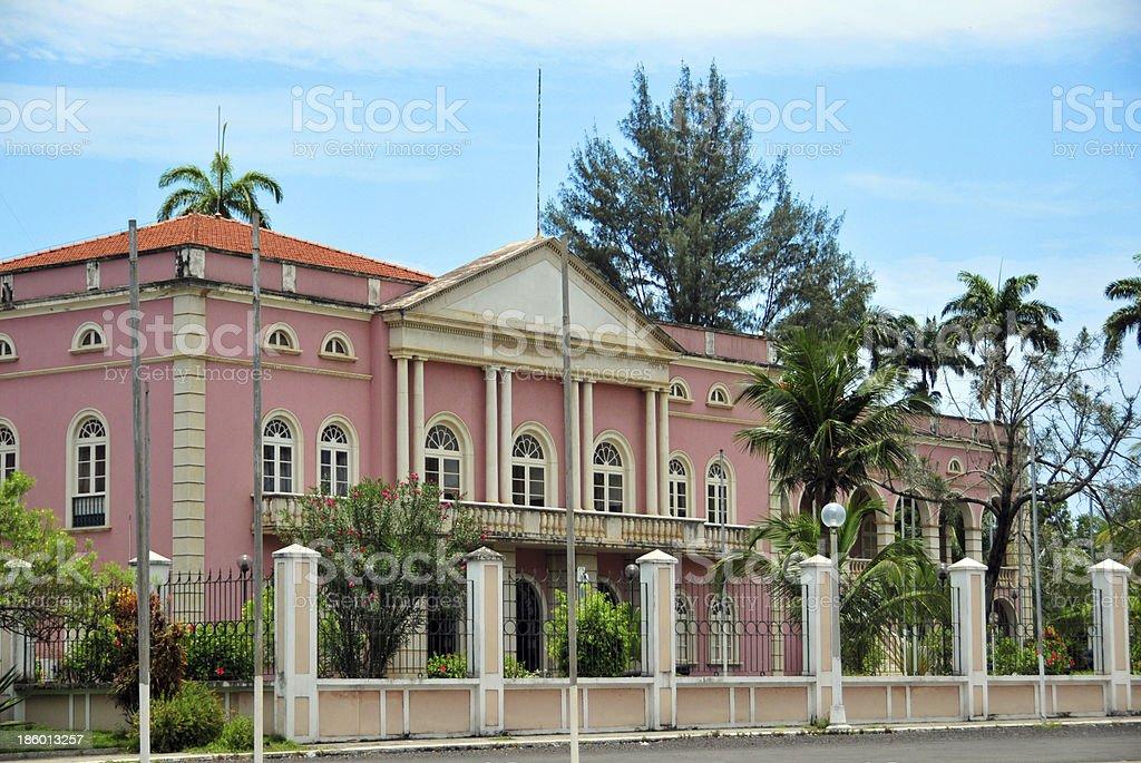 São Tomé: colonial architecture stock photo