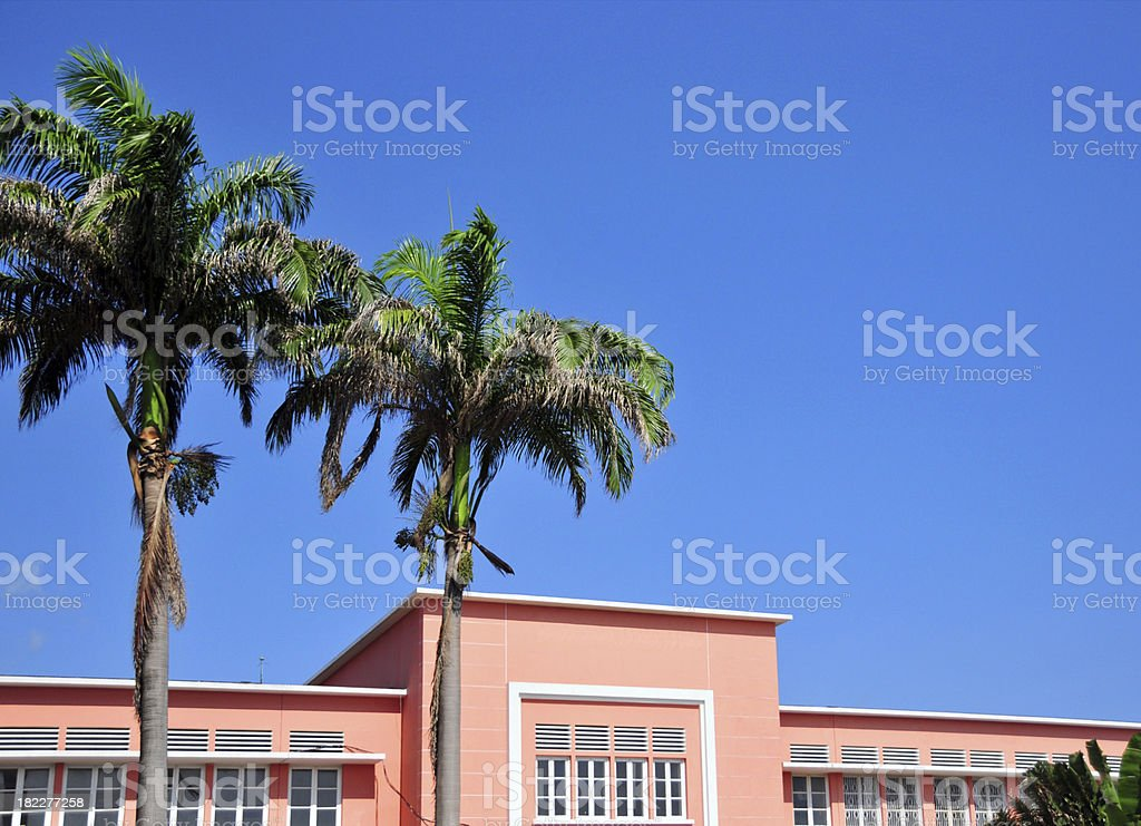 S?o Tom?: the National Lyceum stock photo