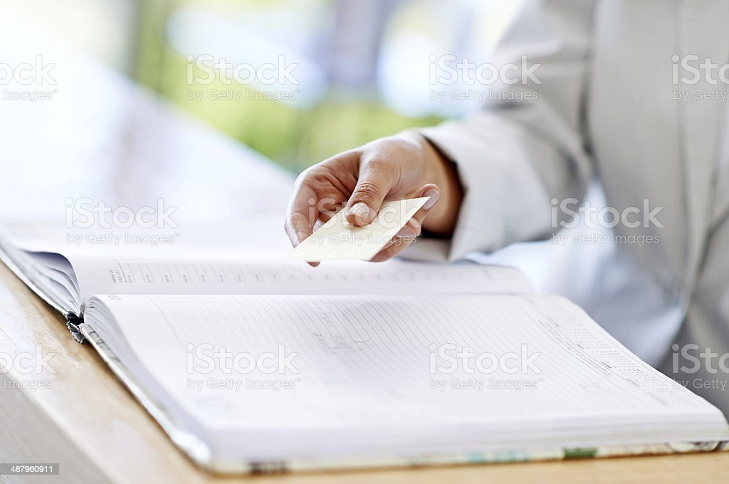 So you'll never forget your appointment stock photo