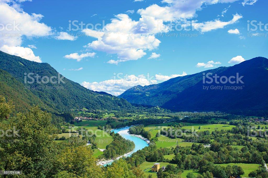 Soča valley stock photo