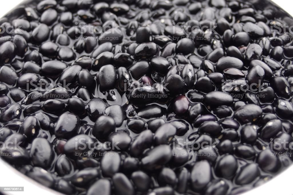 soak dried Black beans stock photo