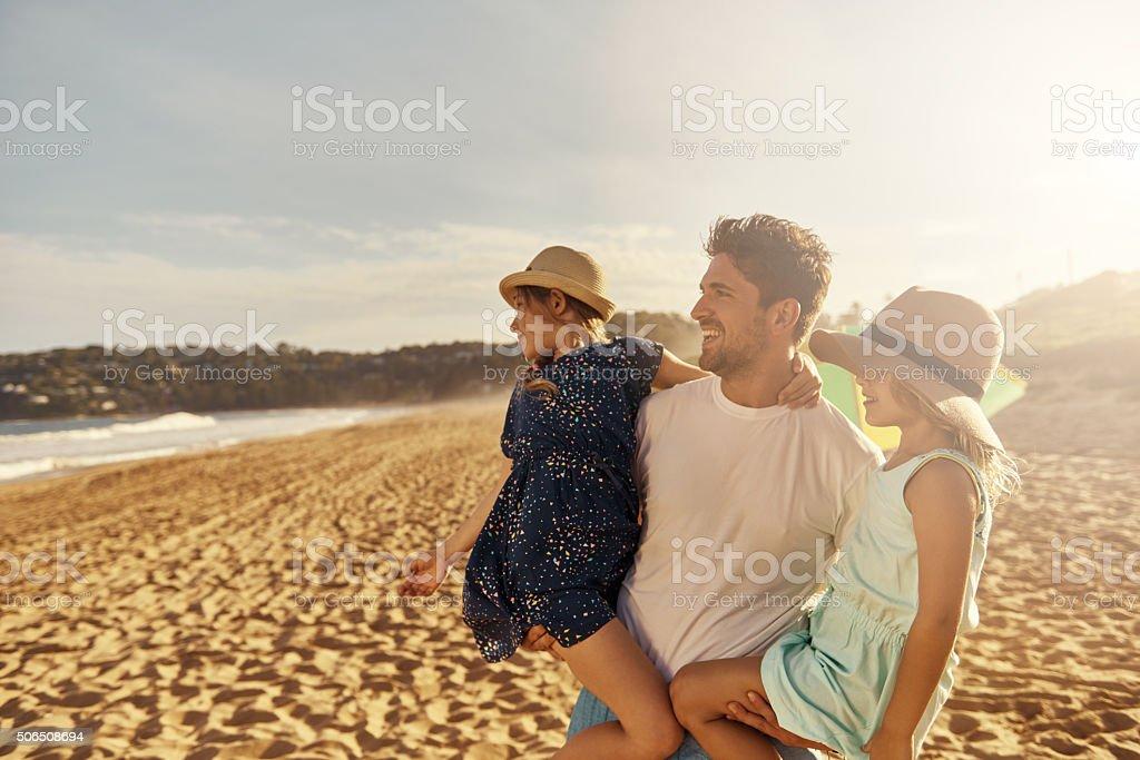 Soak up the sun stock photo
