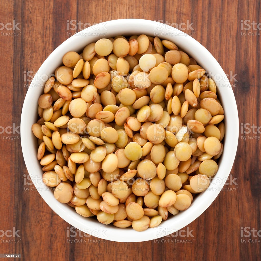 Soaked lentils royalty-free stock photo