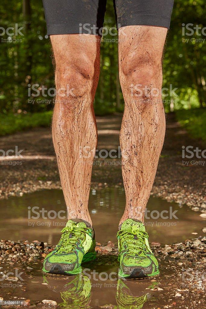 Soaked runner stock photo