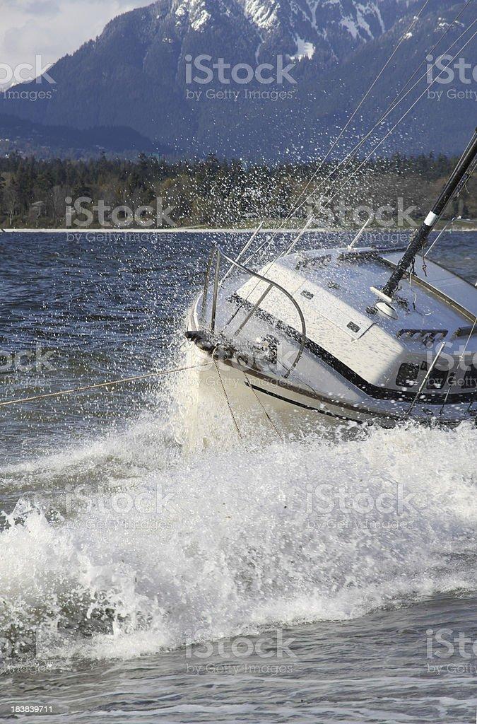Soaked Ship royalty-free stock photo