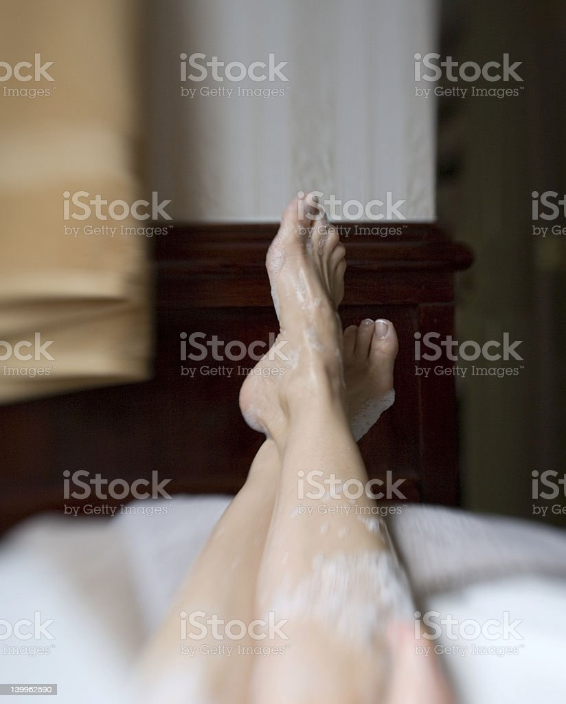 Soaking in a tub royalty-free stock photo