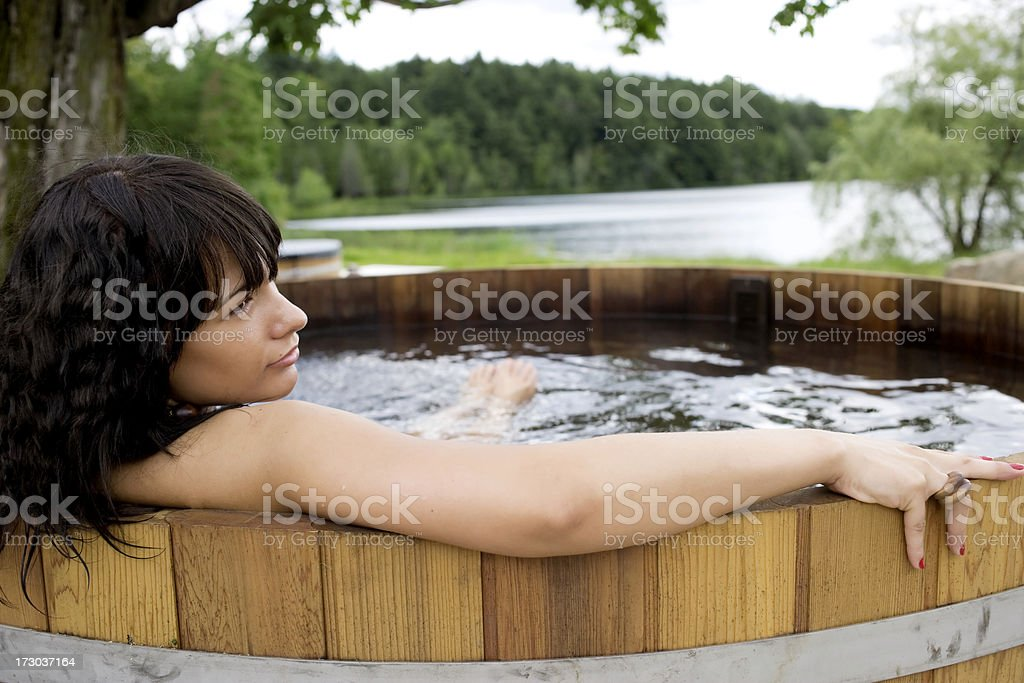 Soaking in the Tub royalty-free stock photo