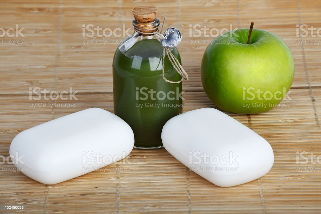 soap and apple royalty-free stock photo