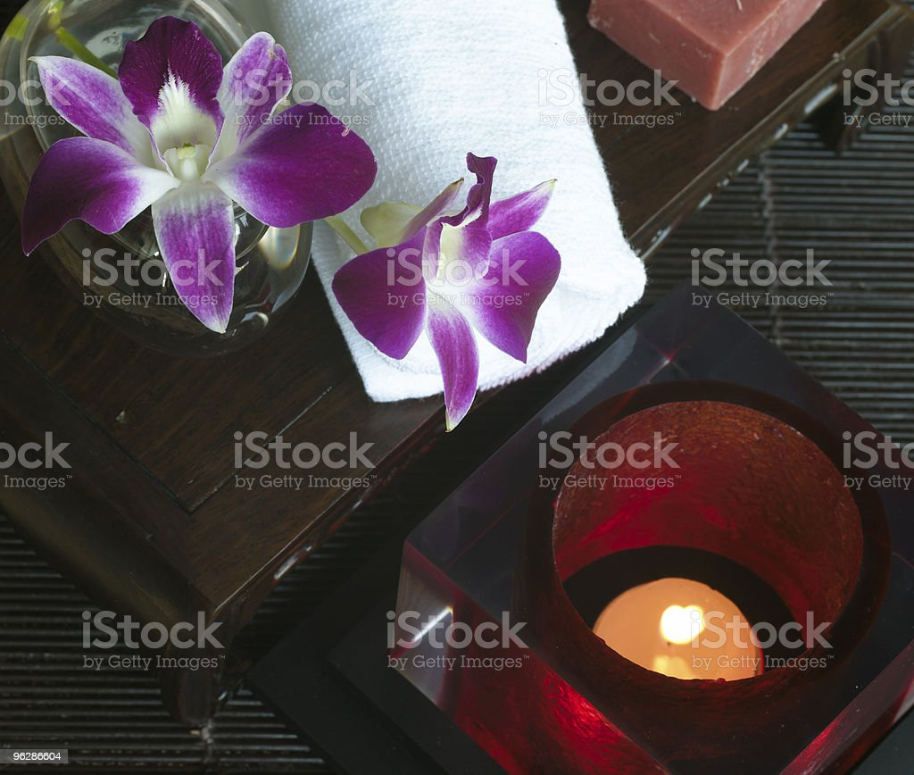 soap and canddle royalty-free stock photo