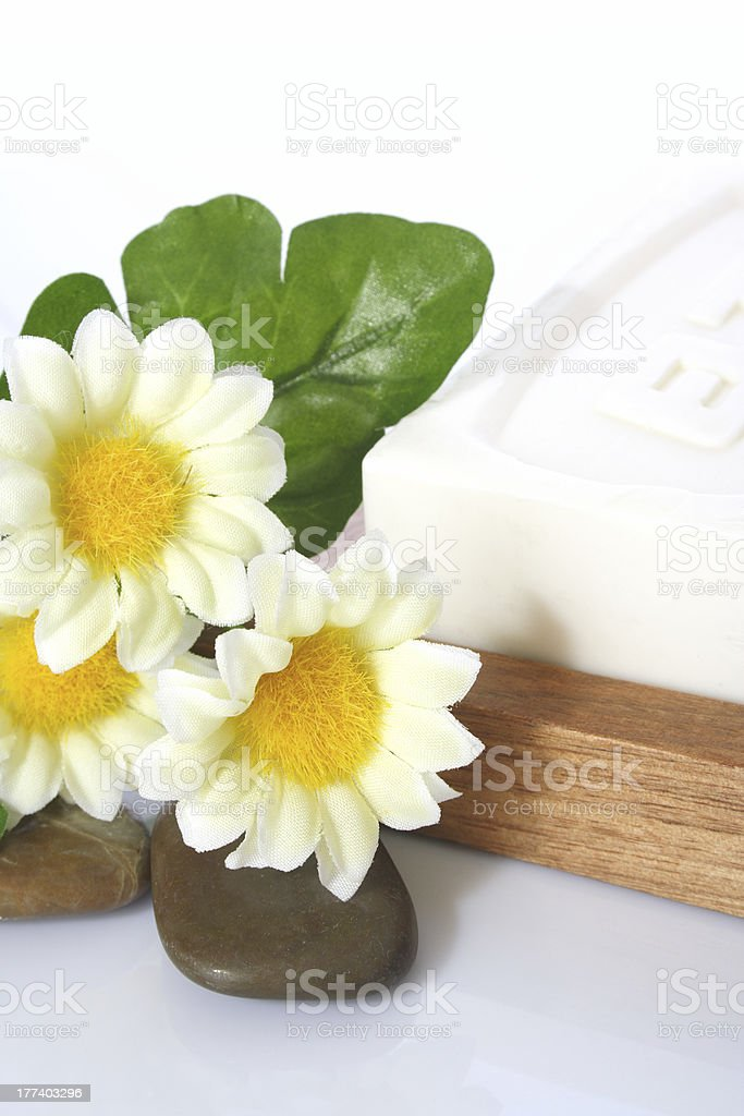 Soap and Flowers royalty-free stock photo
