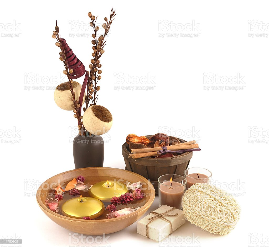 Soap and Pot Pourri Collection royalty-free stock photo