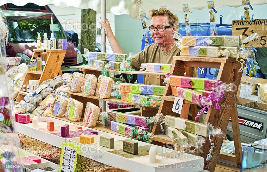 Soap bars for sale in Provenve stock photo