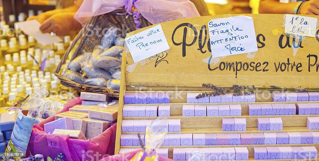 Soap bars in Provenve royalty-free stock photo