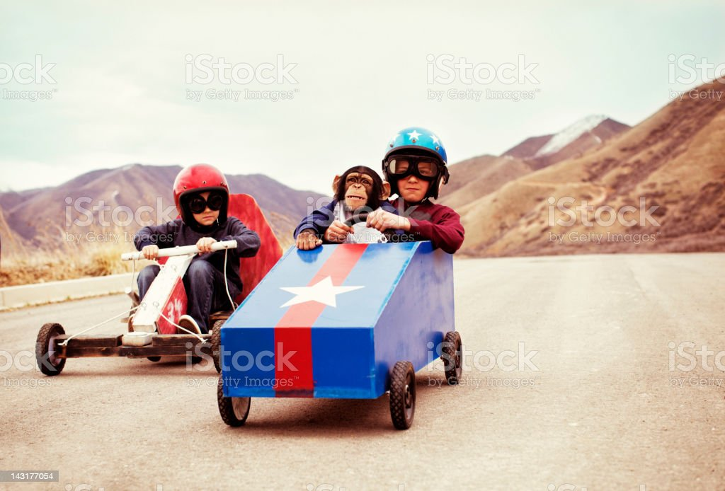 Soap Box Racers stock photo
