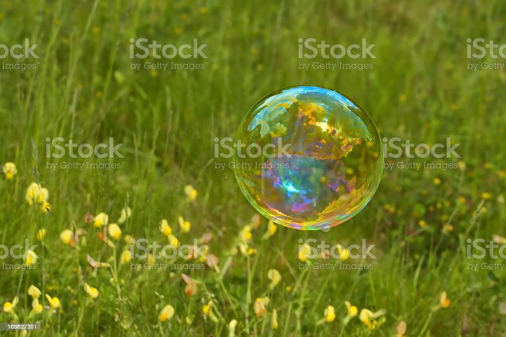 Soap bubble as background stock photo