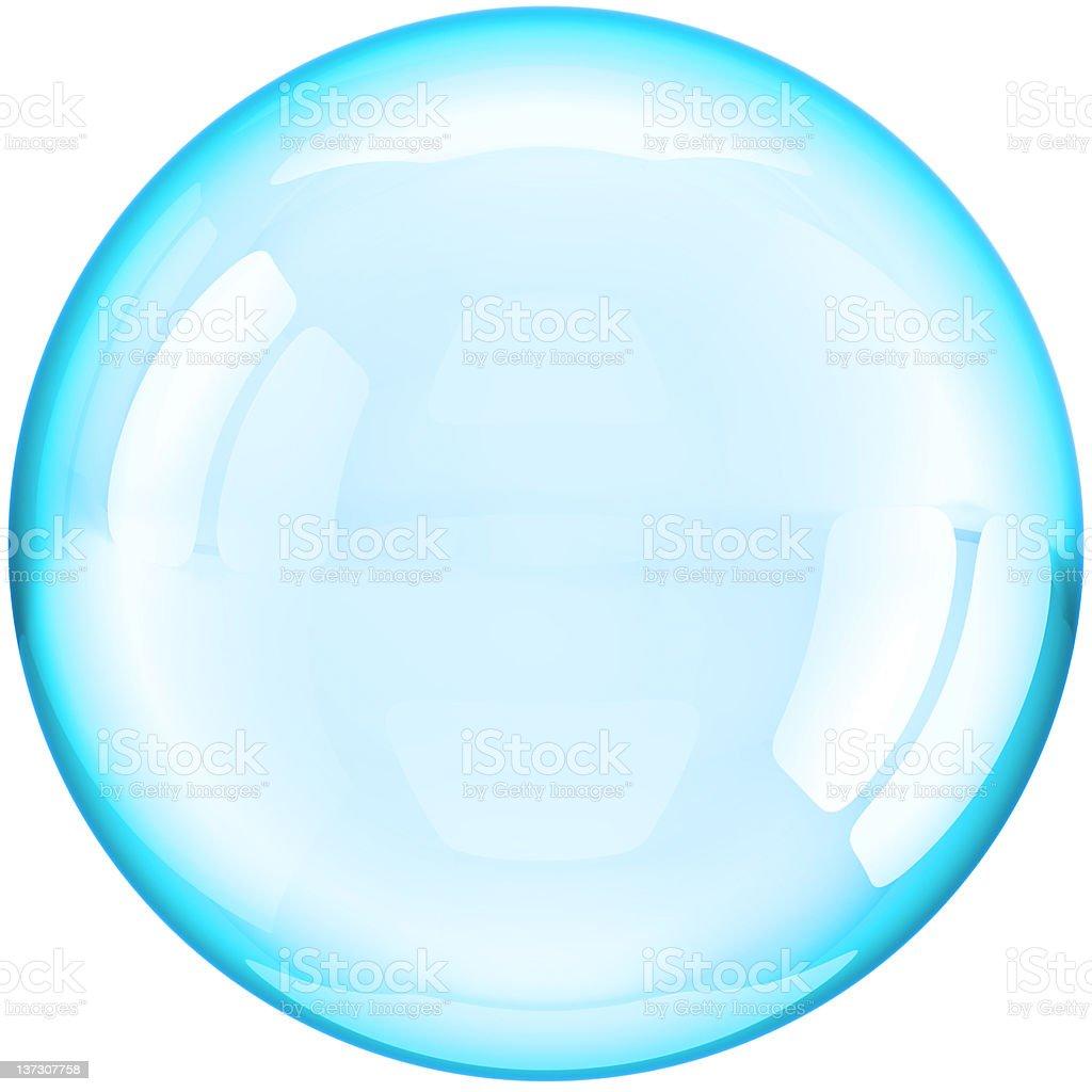 Soap bubble ball translucent royalty-free stock photo