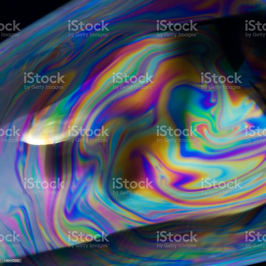 Soap Bubble Color Swirls royalty-free stock photo
