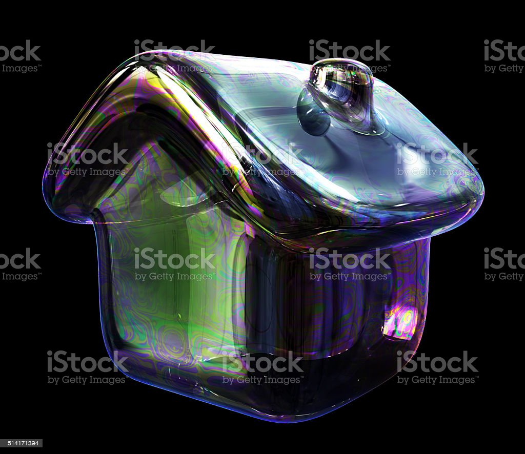 Soap Bubble House Concept stock photo