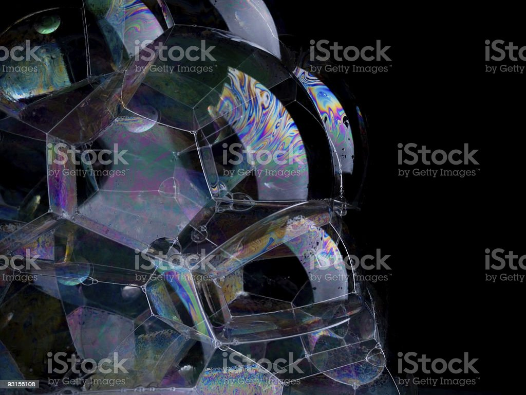 Soap Bubble Structure royalty-free stock photo