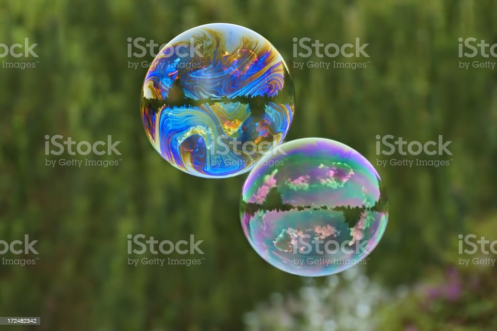 Soap bubbles as background stock photo