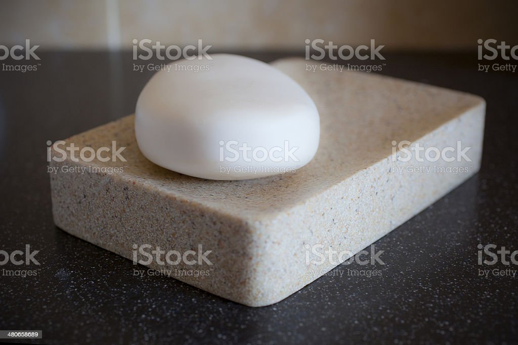 Soap On A Soap Dish stock photo