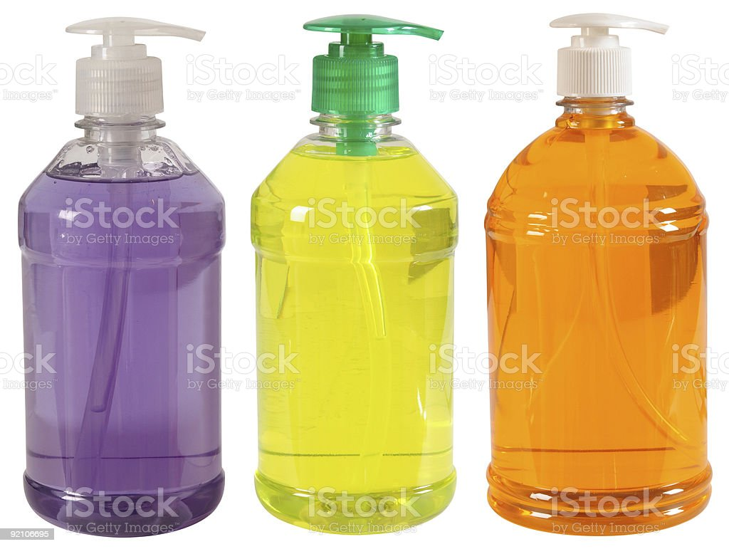 Soap or gel bottle. Competition concept. royalty-free stock photo