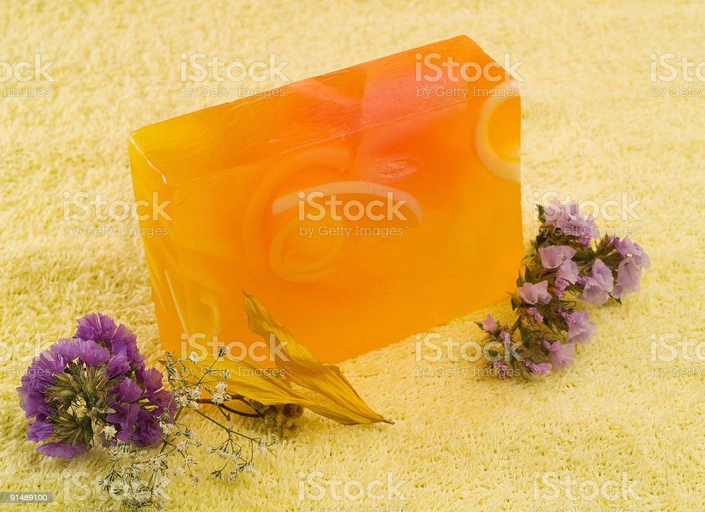 Soap with Flowers royalty-free stock photo