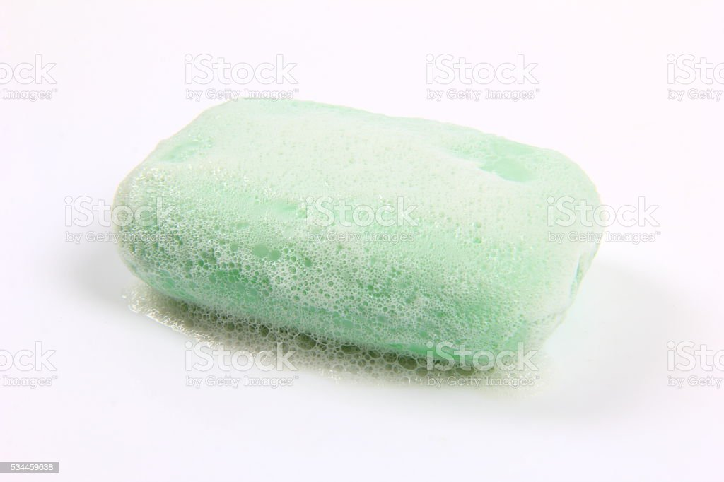 Soap with foam stock photo