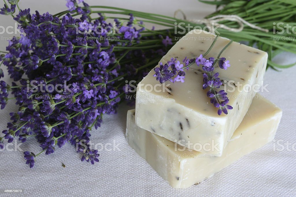 Soap with lavender royalty-free stock photo