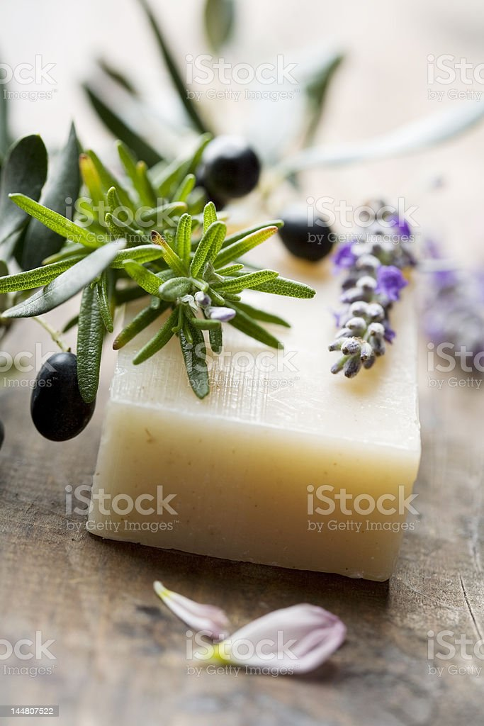 soap with natural ingredients stock photo