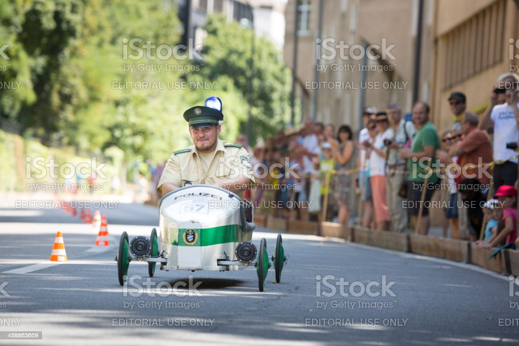 Soapbox car race in Munich royalty-free stock photo
