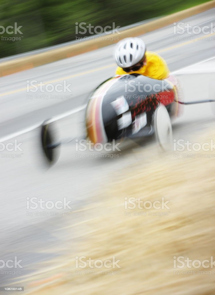 Soapbox Derby Race Car Child stock photo