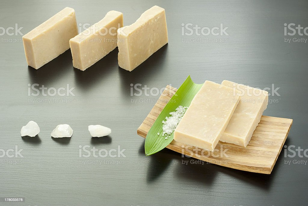 Soaps and bath salts stock photo
