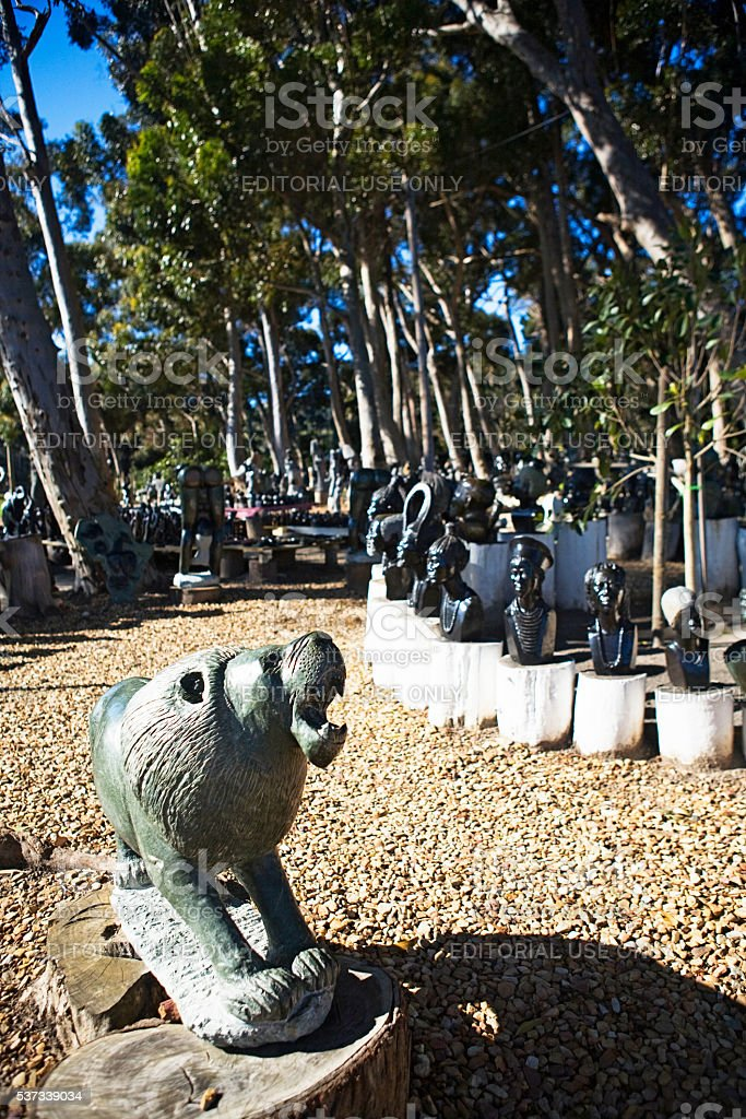 Soapstone carvings, Cape Point, South Africa, tourism, travel, Cape Town stock photo
