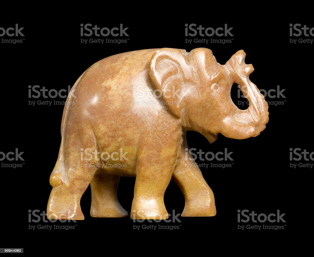 soapstone elephant sideways stock photo