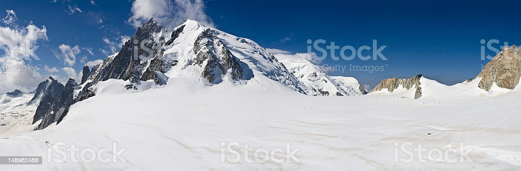 Soaring Alpine peaks snowy wilderness royalty-free stock photo