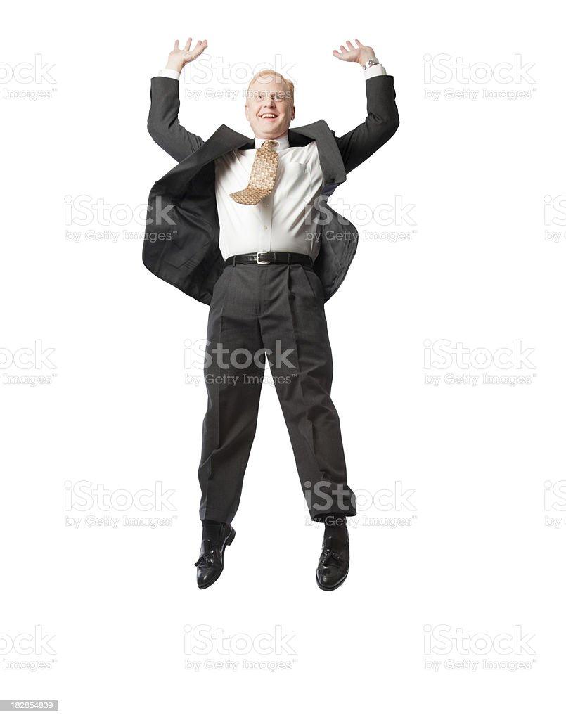 Soaring Businessman royalty-free stock photo