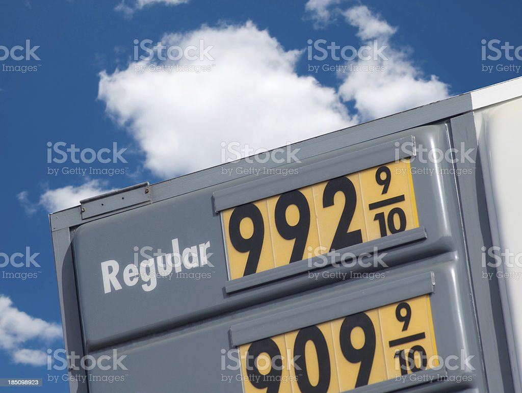 Soaring Gas Prices royalty-free stock photo