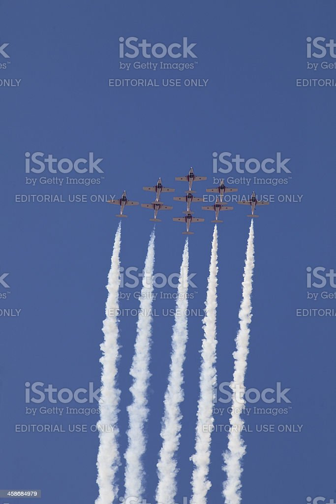 Soaring Jet Aircraft royalty-free stock photo
